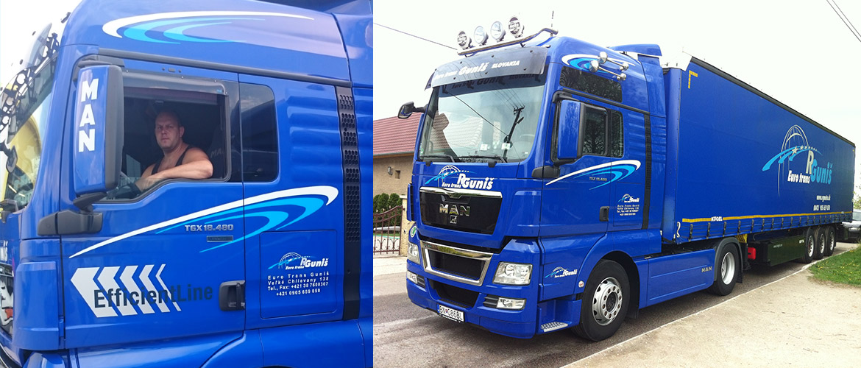 vozový parkt Eurotrans Guniš